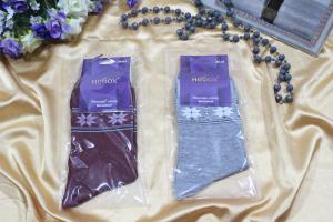 Носки женские р-р 23-25 (12) Арт. небох Снежинки на носках (к.10503)