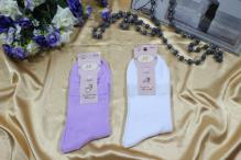 Носки женские р-р 23-25 (10) Арт. F Подарочная коробка и цветочек (к.10499)